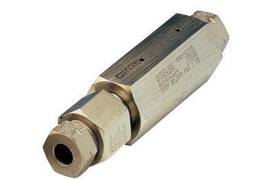 PArker High Pressure Check and Excess Flow Valves