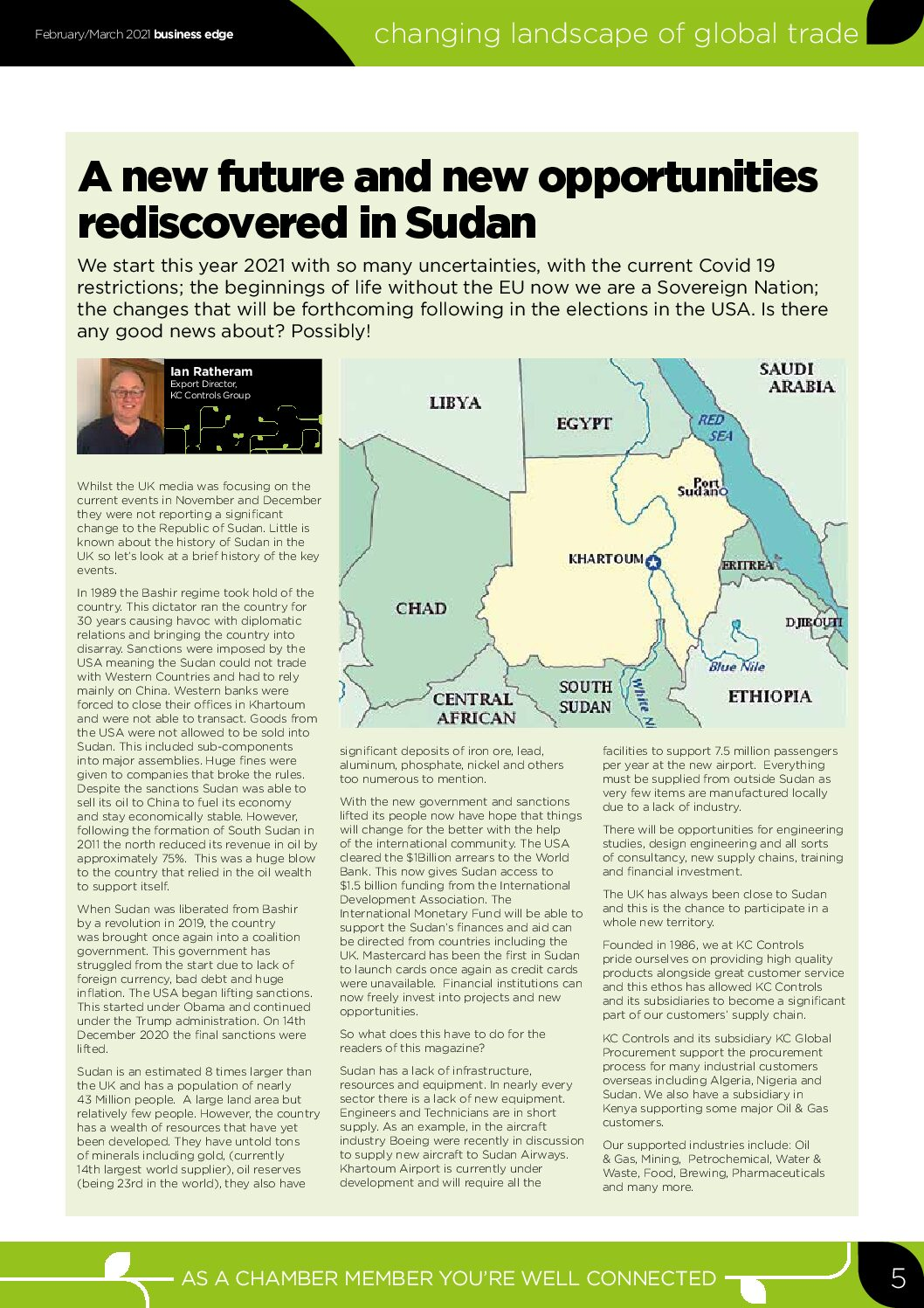 A New Future and New Opportunities Rediscovered in Sudan